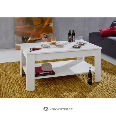 White coffee table (with strong beauty defects, in a box)