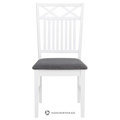 White-gray chair (fullerton) (hall sample, with defect,)