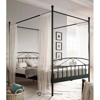 Juodojo metalo baldakimo lova 140x200 (birgitas)