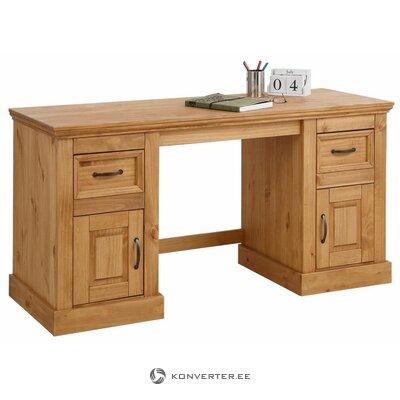 Brown solid wood desk (selam)