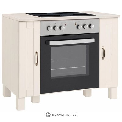 White solid wood stove cabinet (alby)