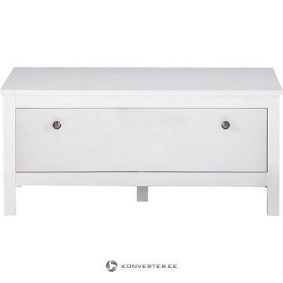 Pieni valkoinen kaappi (ei) (täynnä, laatikko)