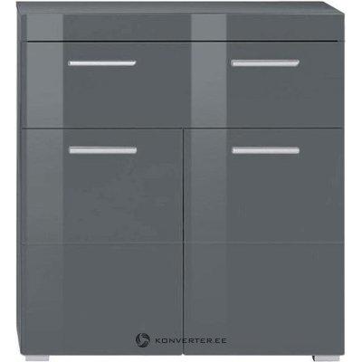 Pilka blizganti spintelė su 2 durimis ir 1 stalčiumi (amanda) (visa, mėginių salė)