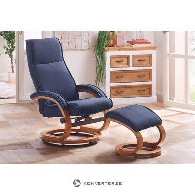 Mėlynas pasukamas fotelis su kraigu (Paryžius)