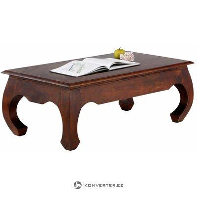 Tumši brūns akācijas kafijas galdiņš (priekšgala)