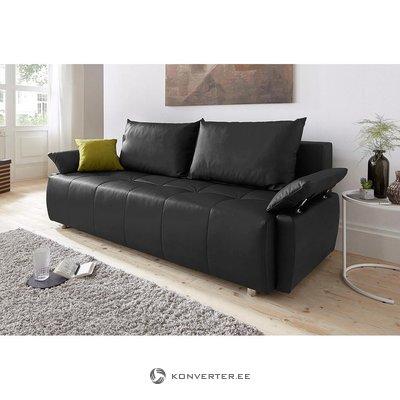 Ruda odinė sofa-lova (visa, pavyzdžių salė)