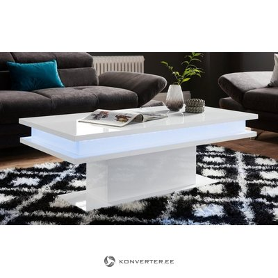 White high gloss sofa table (with beauty defects, hall sample)
