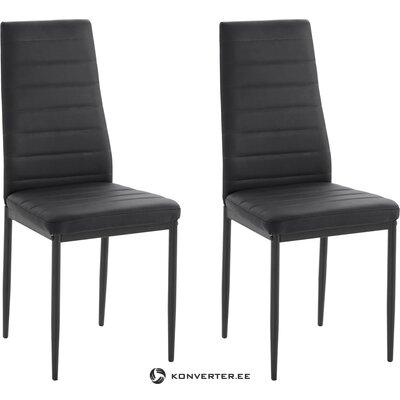 Black leather chair (sandy)