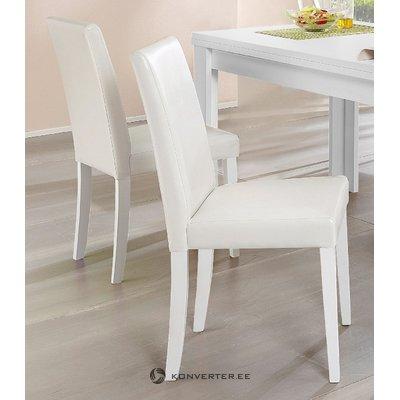 Balts ādas mīkstais krēsls (kastē, vesels)