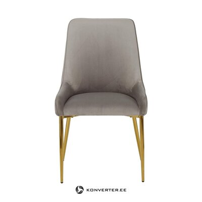 Pelēki zeltains samta krēsls (atverams)