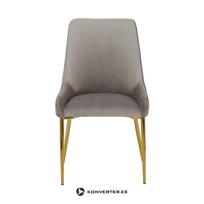 Pelēki zeltaini samta krēsls (atverams)