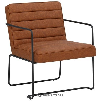 Brown leather armchair (panama) (whole, sample hall)