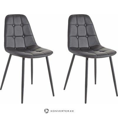Juodos odos dizaino kėdė (su grožio trūkumais, salės pavyzdys)