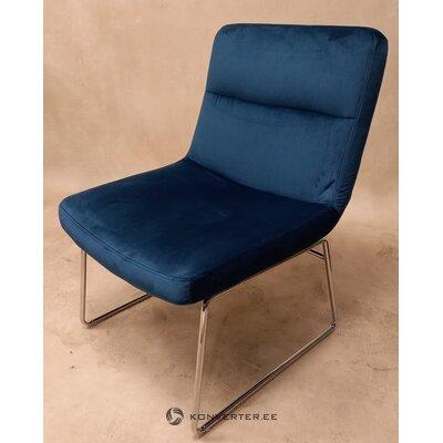 Кресло из темно-синего бархата (гиль)