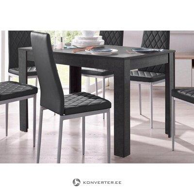 Стол обеденный темно-серый (120х80) (линн) (с косметическими дефектами)