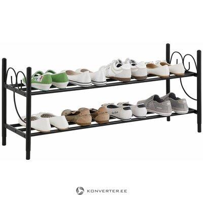 Musta metalli kenkäteline (kokonainen, hallinäyte)