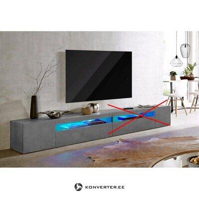 Pelēks televizora skapis (platums 260 cm)