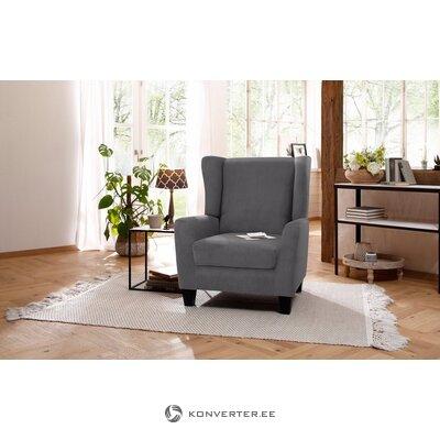 Бархатное серое кресло (алесса)