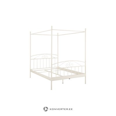 Bibi Canopy Bed 140 x 200 cm / white metal