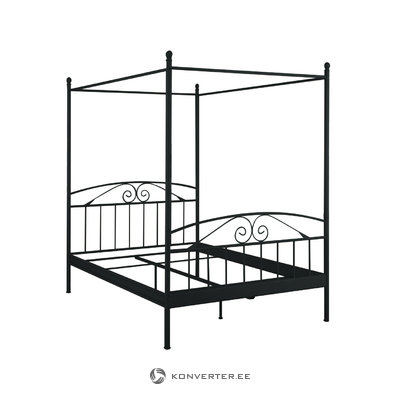 Bibi Canopy Bed 180 x 200 cm / black metal
