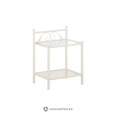 Bibi Night Stand with shelf / white metal