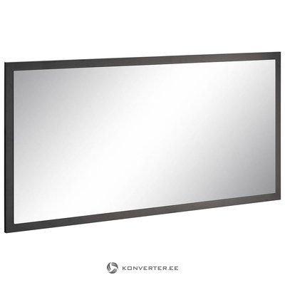 Gray high-gloss wide mirror