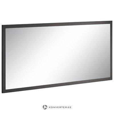Harmaa kiiltävä leveä peili (kokonainen, laatikossa)