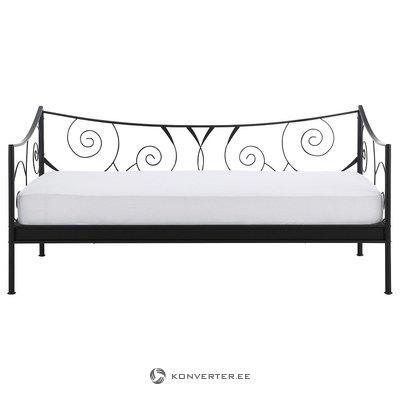 Juodos siauros lovos rėmas (princesė) (90x200cm) iš metalo