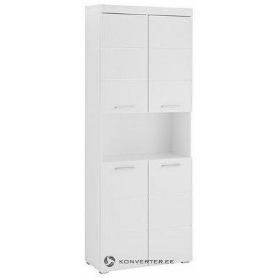 Balts spīdīgs skapis ar 4 durvīm (amanda) (veseli, kastē)