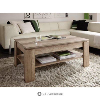 Dark brown coffee table with shelf (beauty defects)