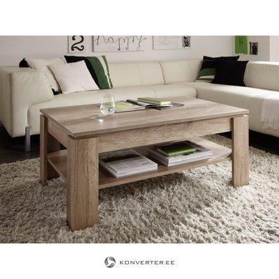 Tamsiai rudos kavos staliukas su lentynomis (trendteam) (visa, mėginių salė)