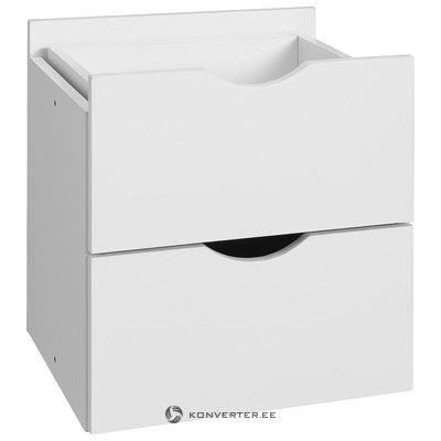 Baltas 2 stalčių rinkinys (kivi)