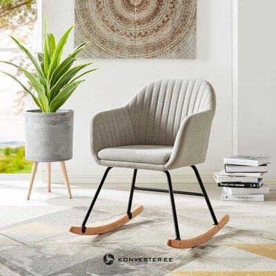 Кресло-качалка светло-серое мягкое (наира) (целиком)
