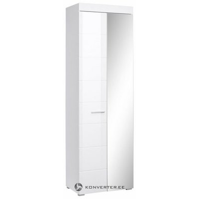 White high gloss closet with mirror door and drawers (amanda)