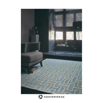Сине-золотой шерстяной ковер (wedgwood)