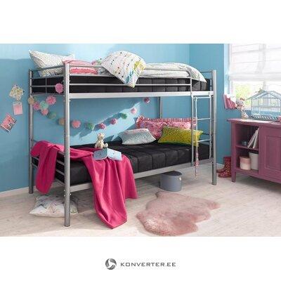Sidabrinė metalinė dviaukštė lova (atlantinė) (dėžutėje, su grožio defektais)