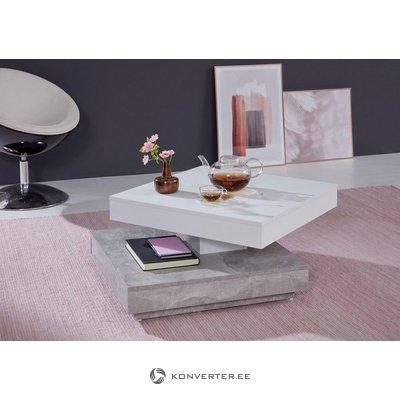 White-gray swivel sofa table (trendteam) (whole, in box)