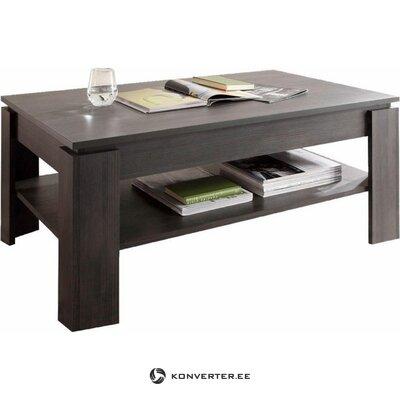 Tamsiai pilkas kavos staliukas su lentyna (grožio defektai, dėžutėje)
