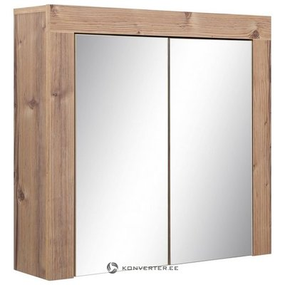 Brown wall cabinet with 2 mirror doors (tyrol) (whole, in box)