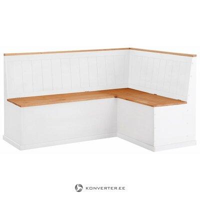 Brūni balts stūra sols (sara) (vesels, kastē)