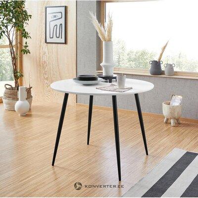 Balts un melns pusdienu galds (dino)