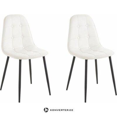 Krēsls baltā-melna metāla kājām (kastē, vesels)