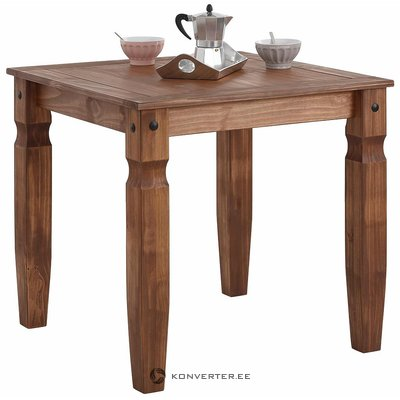 Small brown dining table (mexico)