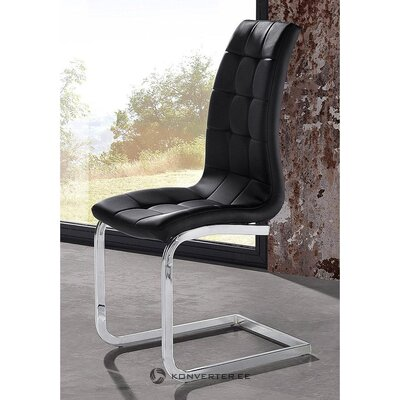 Black chair with soft leather cover (hall sample)