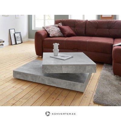 Dīvāna galds (inosign) uz riteņiem (skaistuma defekti, pelēks, kastē)