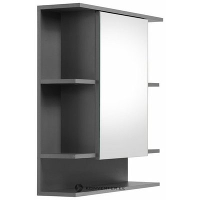 Gray bathroom mirror cabinet with 5 shelves (tetis) (with beauty defects)