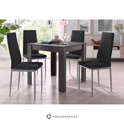 Musta ruokapöytä (lynn) (laatikossa, kokonainen)