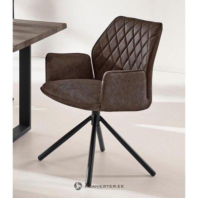 Tamsiai ruda minkšta kėdė (preston)