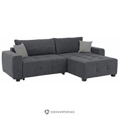 Tumši pelēks stūra dīvāns