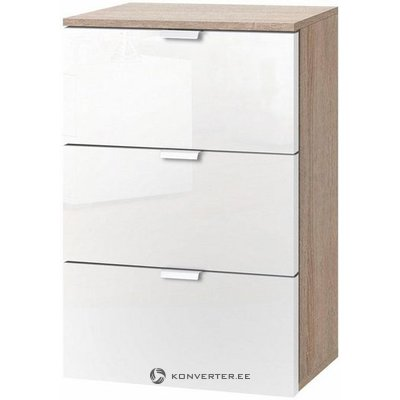 White-Brown Nightstand (Full, Box)